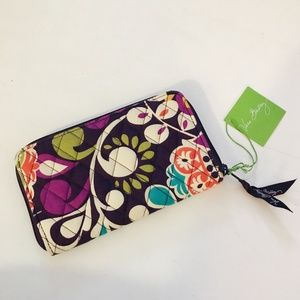 Vera Bradley Accordion Wallet - Plum Crazy - NWT